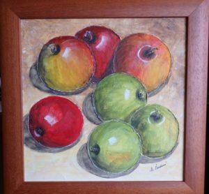 Jablíčka, Jablíčka, 2020, 36x36 cm, lingrusta